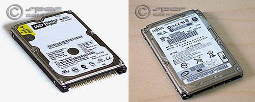 WD Scorpio 80G & Fujitsu SATA 80G notebook drives