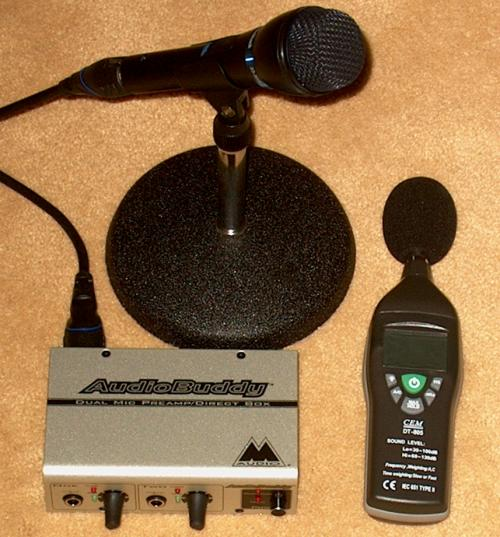 microphone, preamplifier, and sound meter