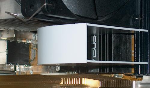 MCH heat sink duct, installed