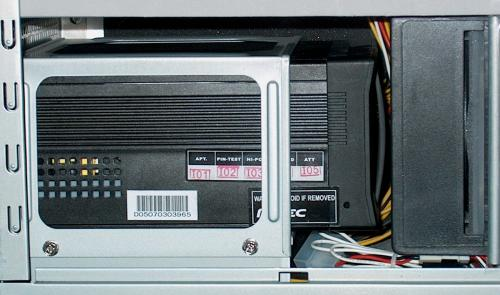keep the top of the power supply open so air can flow across the heat sink