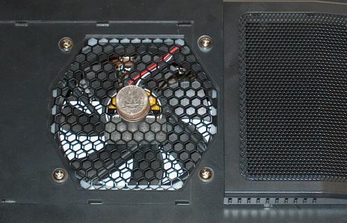 top case fan mounted with AcoustiFan gasket