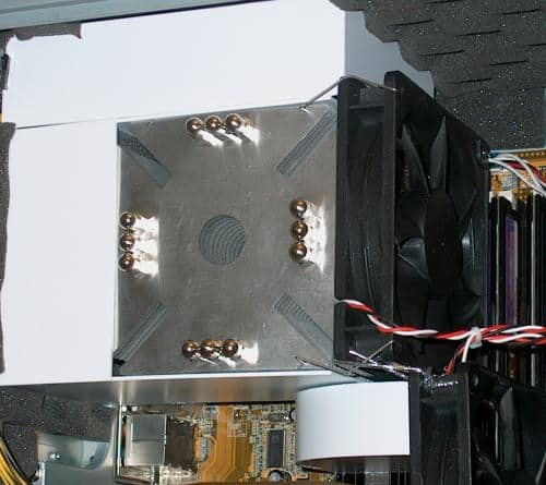 The VRM baffle installed in the system