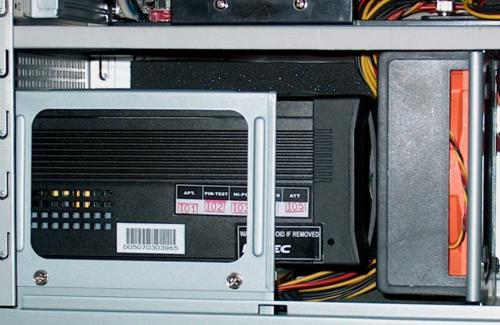 leave the gap open above the power supply for cooling