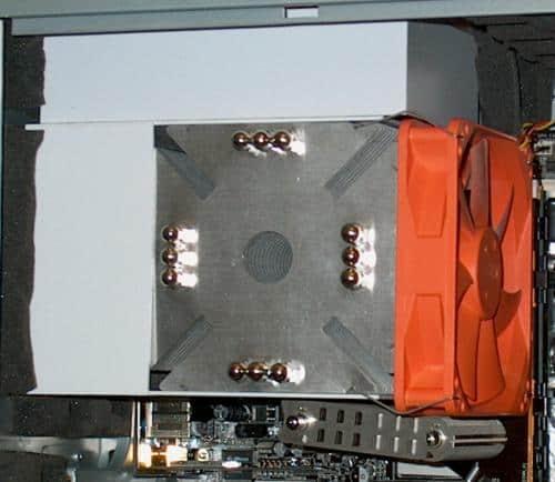 VRM baffle and Ninja duct installed