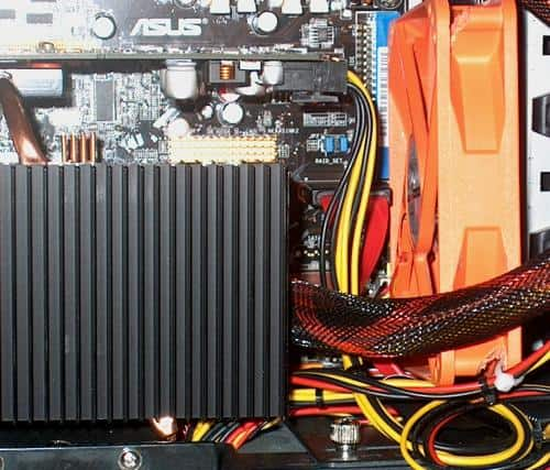 video fan installed by upper disk cage
