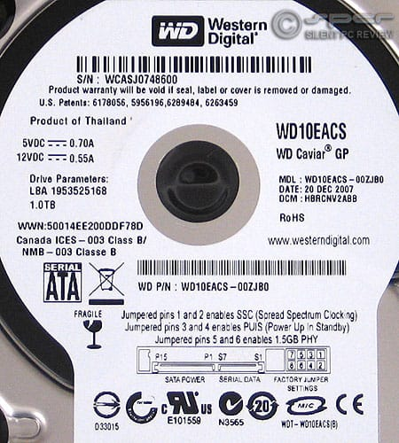 Terabyte Round III: WD Caviar Green Power WD10EACS