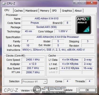 Athlon II X4 610e & Phenom II X4 910e: 45W & 65W Quad Cores
