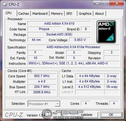 Athlon Ii X4 610e Phenom Ii X4 910e 45w 65w Quad Cores Silent Pc Review