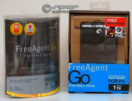 Seagate FreeAgent Go 1TB and 640GB portable USB drives